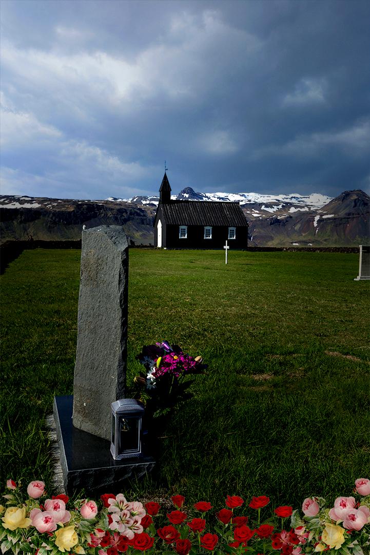 BLACK CHURCH IN ICELAND