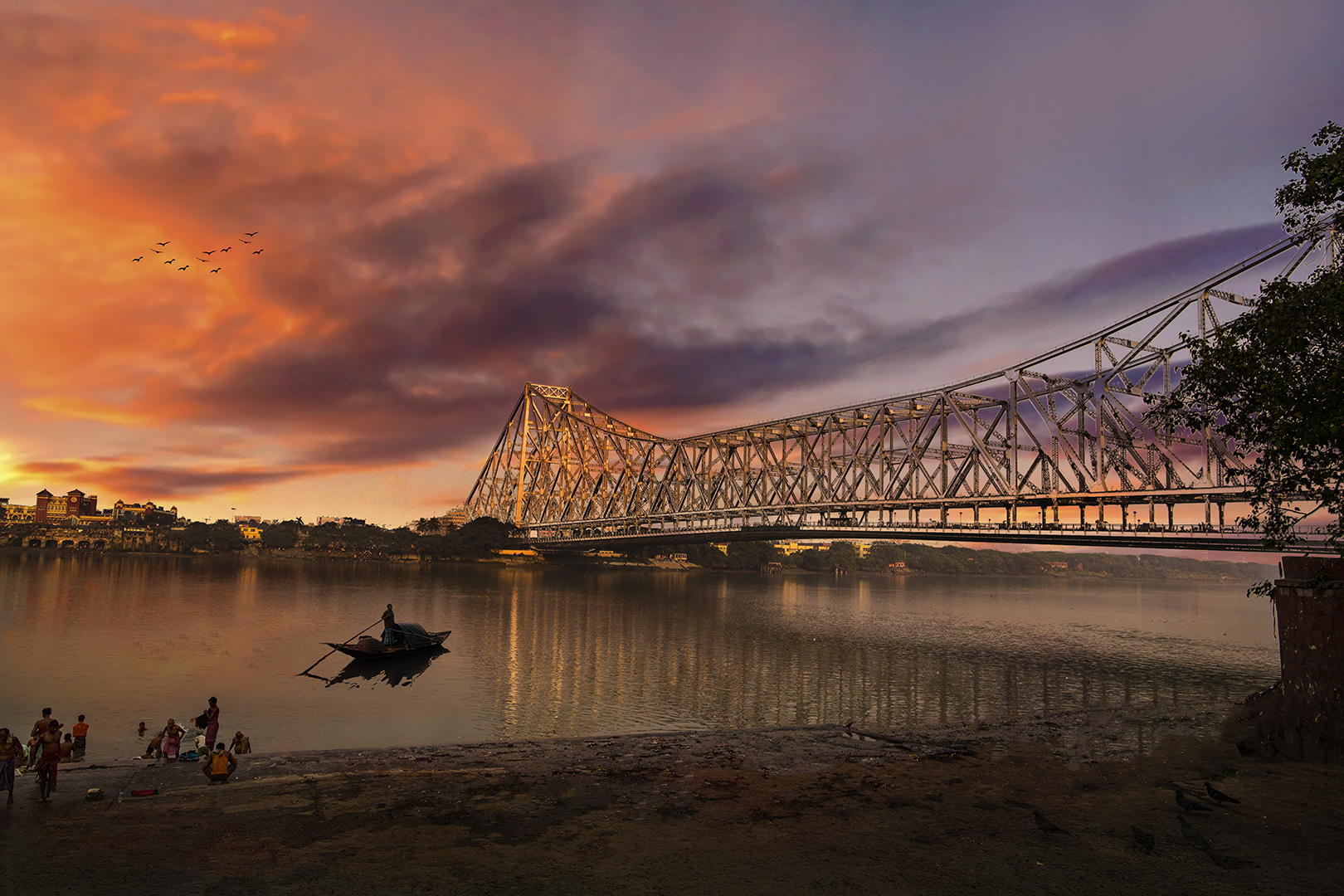 HOWRAH BRIDGE AT SUNRISE